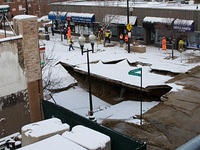 Sinkhole on Montrose